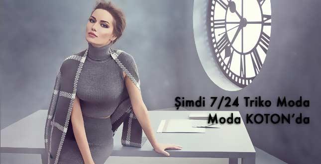 """Fahriye Evcen Koton'un Yeni Reklam Filminde """"Şimdi 7/24 Triko Moda"""" Diyecek"""