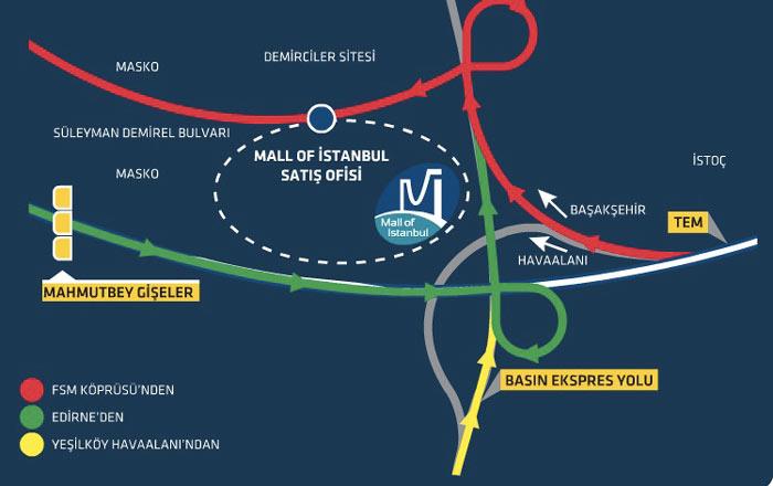 Mall of istanbul avm nasıl giderim - yol tarifi