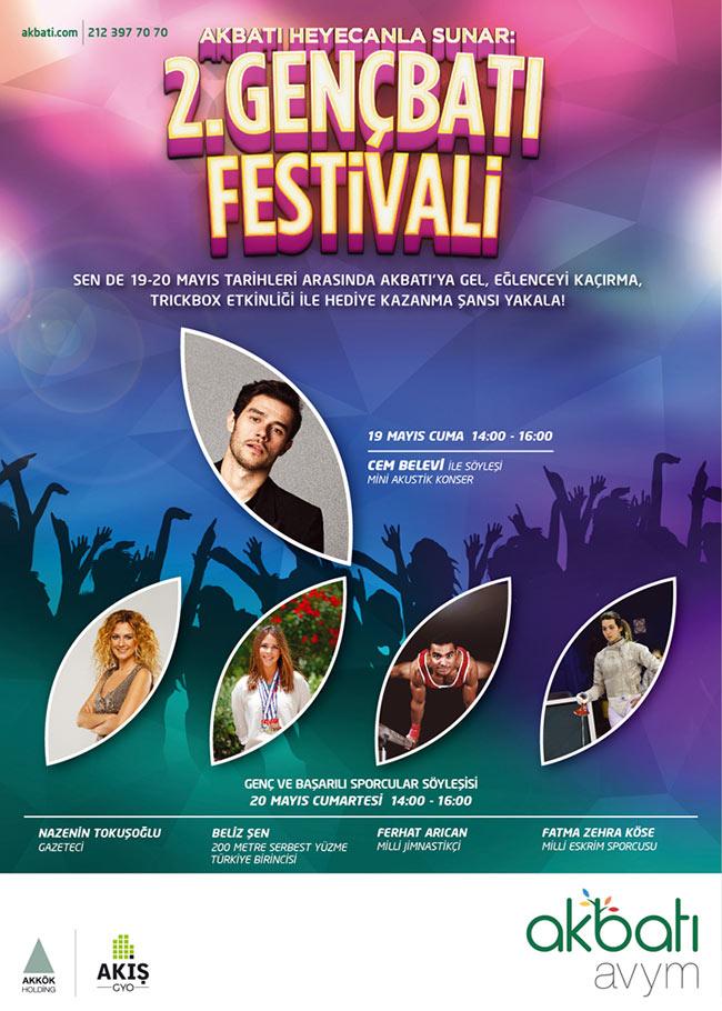 2.GENÇBATI Festivali 19 Mayıs'da Akbatı'da
