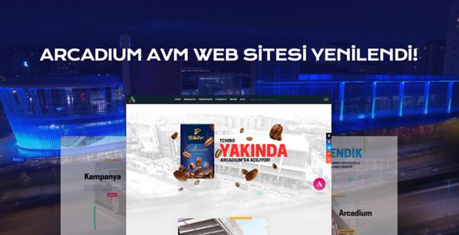 Arcadium Avm Web Sitesi Yenilendi