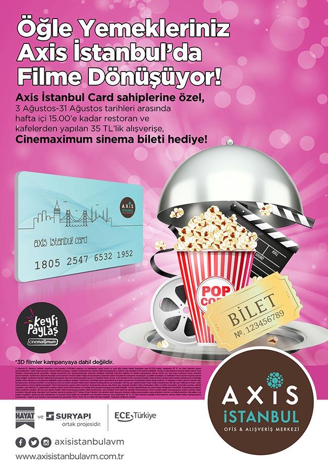 Axis İstanbul'dan Hediye Sinema Bileti!