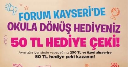 Okul Alışverişi Forum Kayseride Kazandırıyor