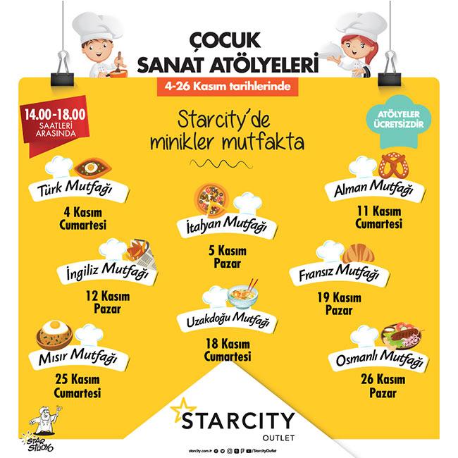 Starcity Çocuk Kulübü'nde Minik Şeflerden Büyük Lezzetler