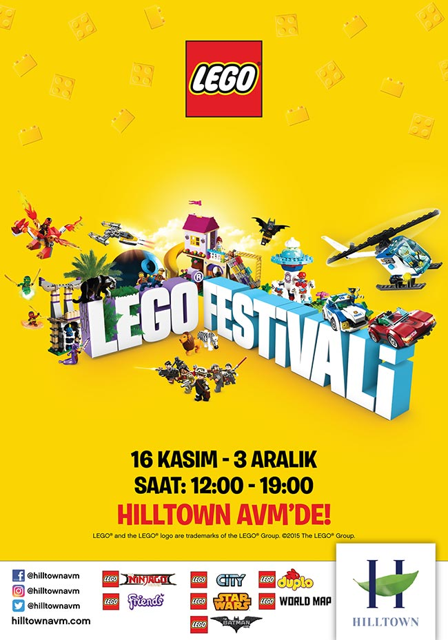 Hilltown'da Lego Festivali Başlıyor!