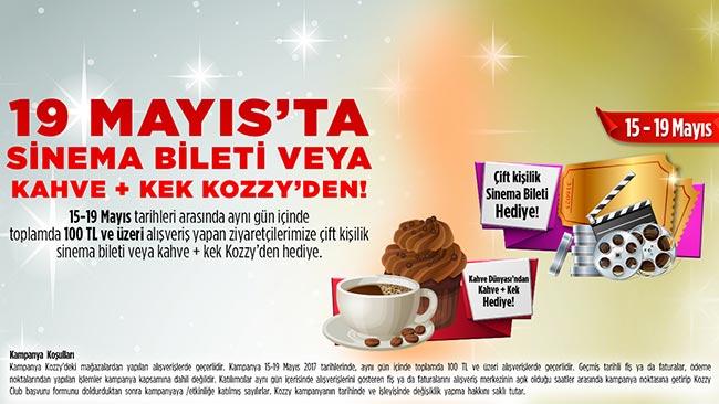 Alışveriş Sizden Sinema Biletiniz veya Kahve ve Kekiniz Kozzy 'den!
