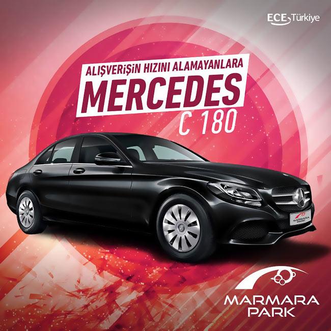 Alışverişin Hızını Alamayanlara Marmara Park'tan Mercedes C-180