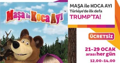 Maşa ile Koca Ayı muhteşem sahne şovuyla Türkiye'de ilk kez Trump AVM'de!