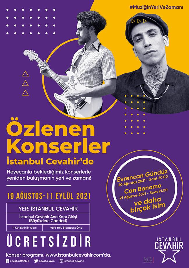 ÖZLENEN KONSERLER İSTANBUL CEVAHİR'DE