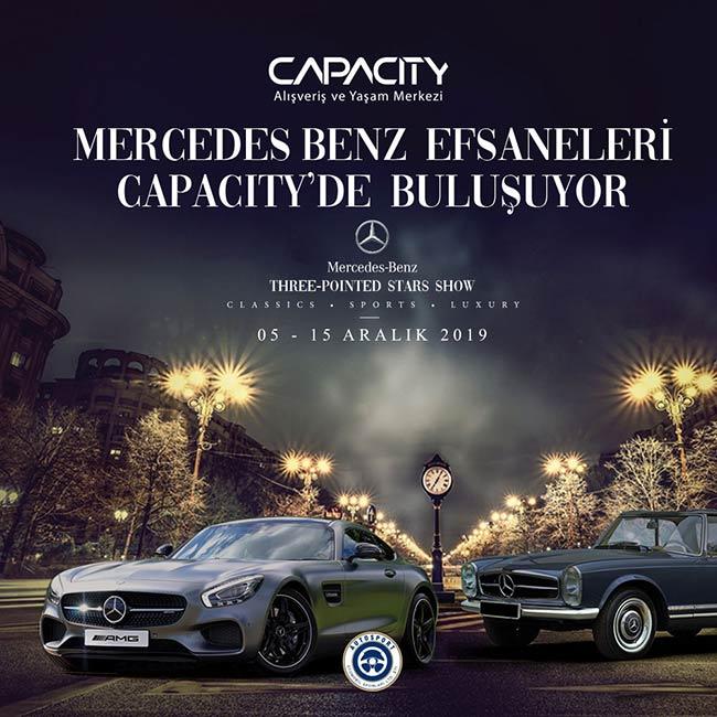 Capacity AVM'de Mercedes-Benz Efsane Otomobiller Sergisi
