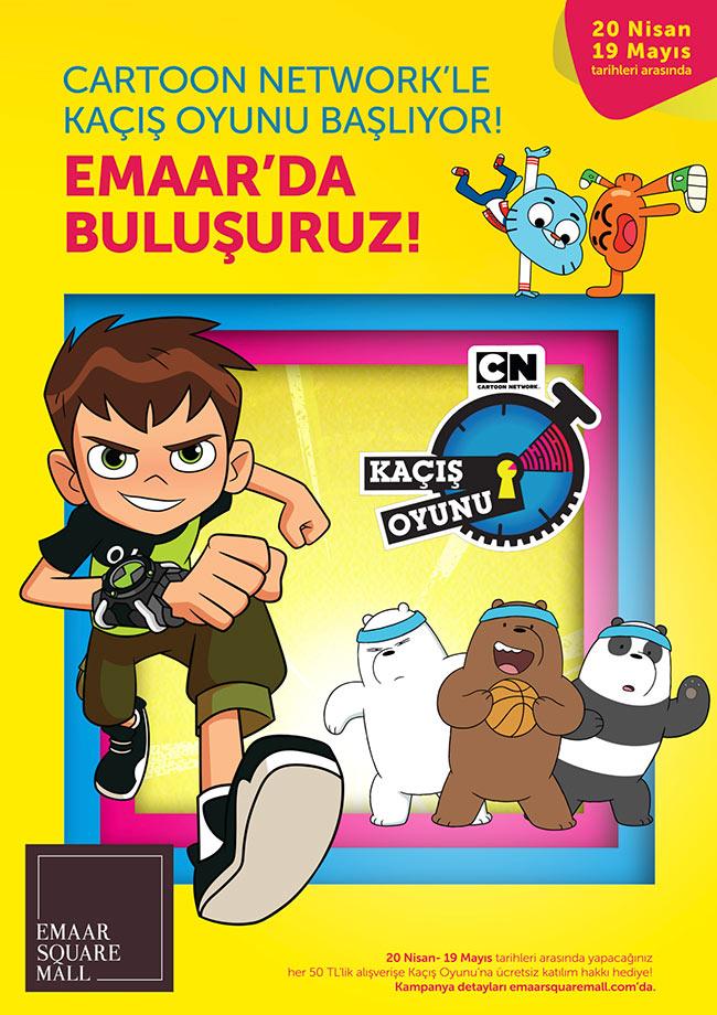 Cartoon Network'le macera dolu kaçış oyunu Emaar'da
