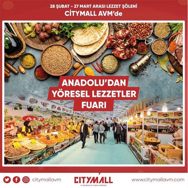 Citymall AVM'deYöresel Lezzetler Şöleni (ERTELENDİ)