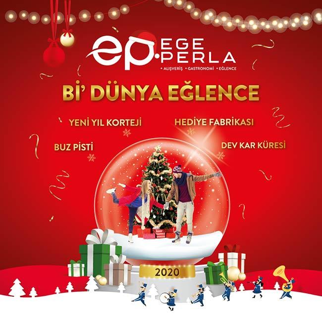 İzmir'in En Coşkulu Yeni Yıl Kutlaması Ege Perla Avm'de