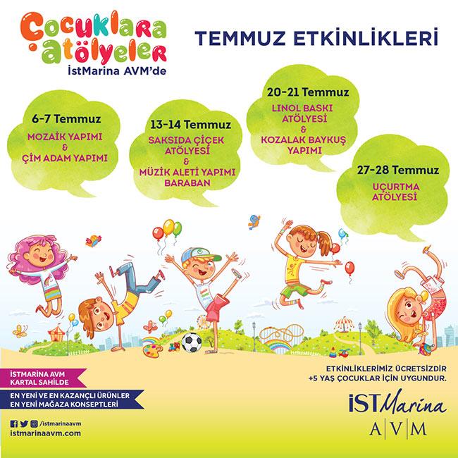 Temmuz'da Çocuklar için Eğlence'nin Adresi: İstMarina AVM!