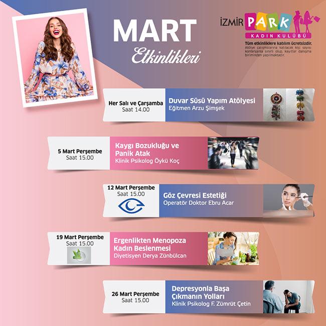 İzmirPark Kadın Kulübü 5. Yaş Etkinlikleri (ERTELENDİ)