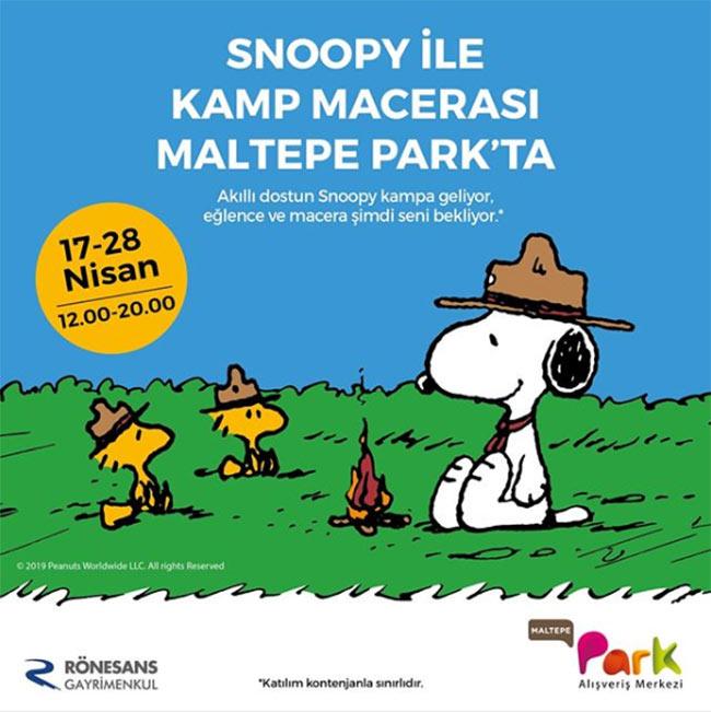 Snoopy ile Kamp Macerası Maltepe Park'ta