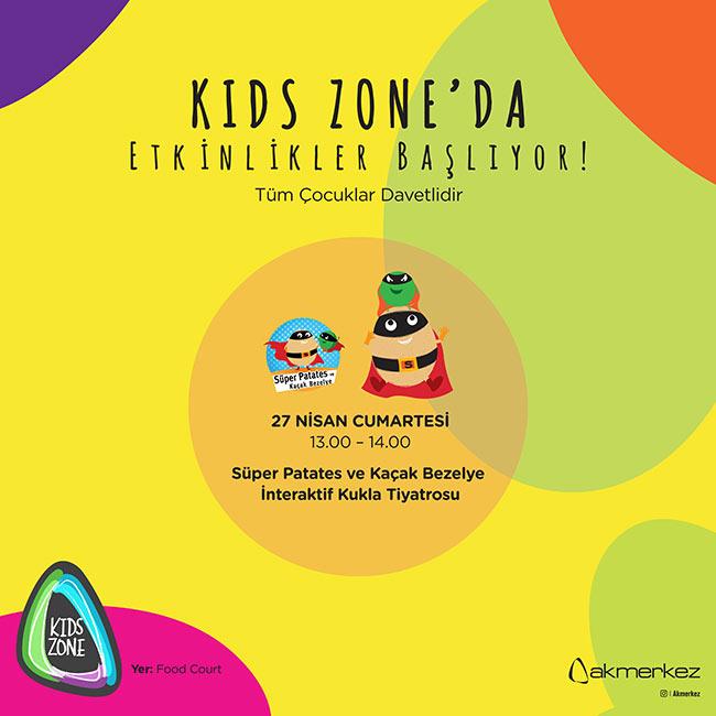 Süper Patates ve Kaçak Bezelye Kids Zone'da