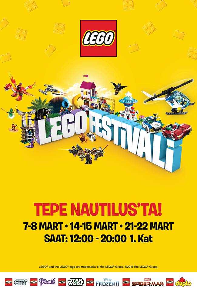 LEGO® Festivali Tepe Nautilus'ta (ERTELENDİ)