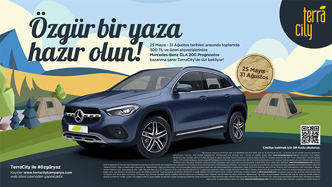 TerraCity İle Mercedes Benz GLA Ödüllü Özgür Bir Yaz