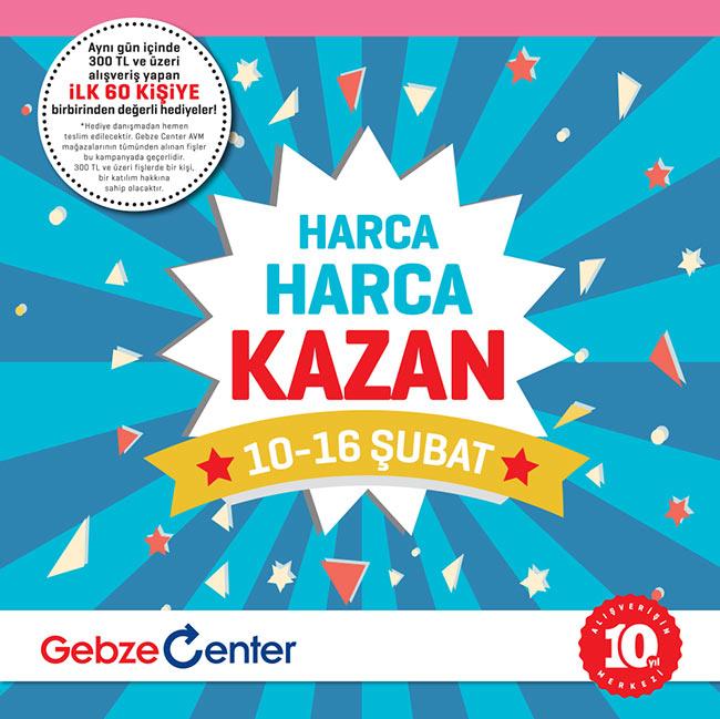 Gebze Center Avm'den Harca Harca Kazan Kampanyası