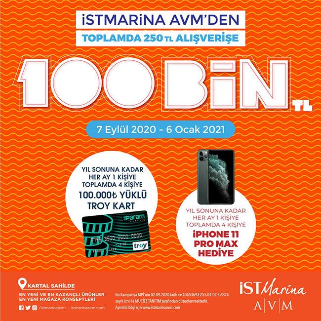 İstMarina AVM, 'Okula Dönüş'te 100 bin TL kazandıracak!