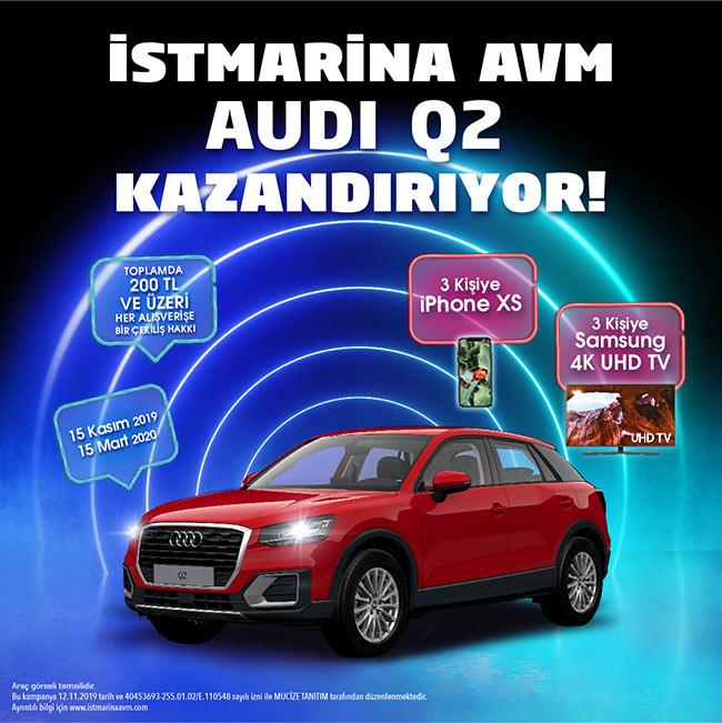 İstMarina AVM'den  Audi Q2 Kazanma Şansı