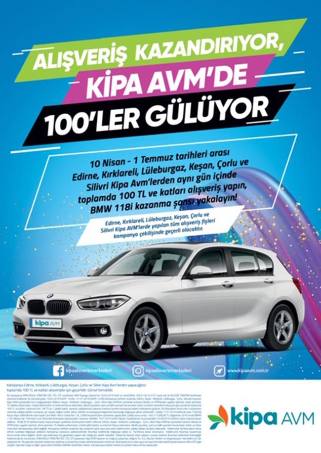 Kipa AVM'lerde BMW 118i Kazanma Şansı