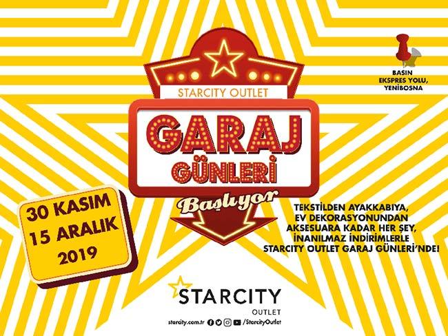 StarcityOutlet Garaj Günleri başlıyor