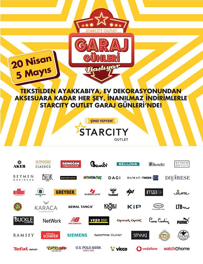 Starcity Geleneksel Garaj Günleri  20 Nisan'da Başlıyor..
