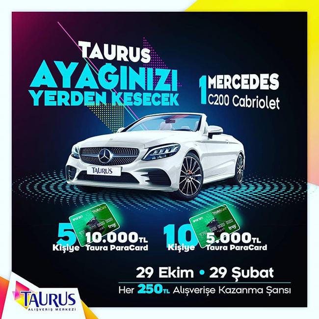 Taurus Avm'den Mercedes C200 Cabriolet Kazanma Şansı