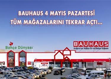 Bauhaus Tüm Mağazaları 4 mayısta Yeniden Açıldı