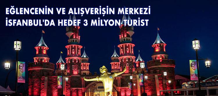 TURİSTLER İÇİN DE EĞLENCENİN VE ALIŞVERİŞİN MERKEZİ İSFANBUL İSFANBUL'DA HEDEF 3 MİLYON TURİST