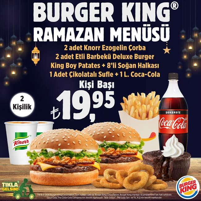 Burger King® Ramazan Menüsü Doyurmaya Niyetli
