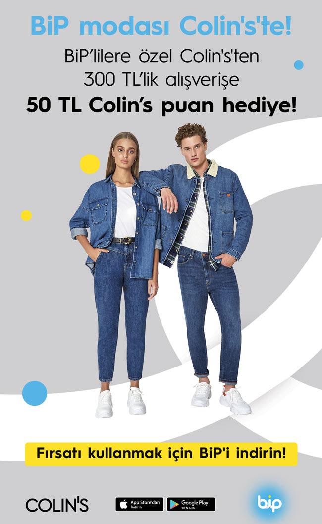 COLIN'S'ten BiP kullanıcılarına 50 TL puan hediye