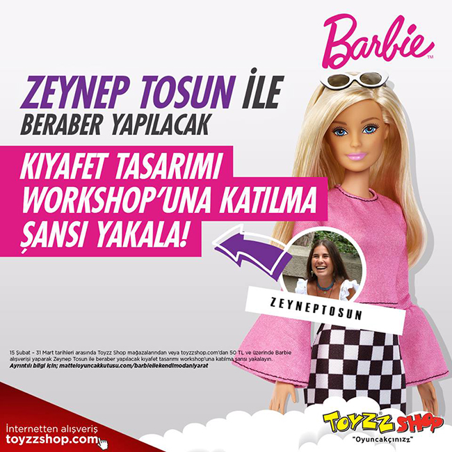 Barbie, Zeynep Tosun ile Yeni Kıyafetler Tasarlayacak Moda Severleri Arıyor