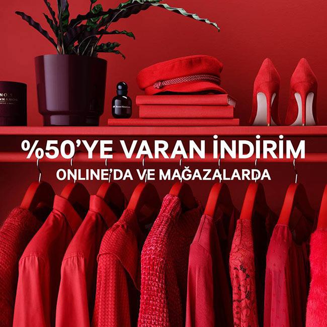H&M'de %50ye varan indirim başladı