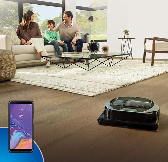 Robot Süpürge Samsung Powerbot, Şimdi Galaxy A7 Telefon Hediyeli