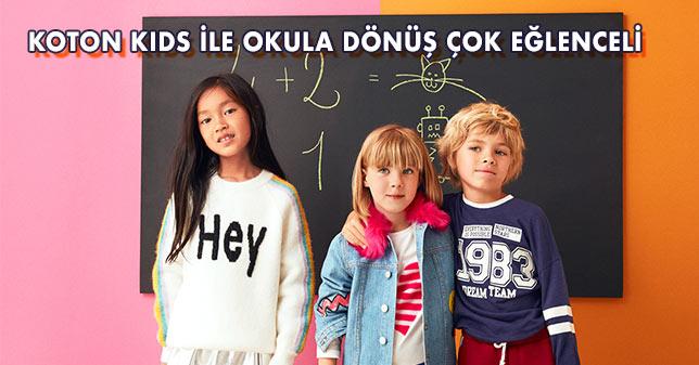 Koton Kids İle Okula Dönüş Çok Eğlenceli