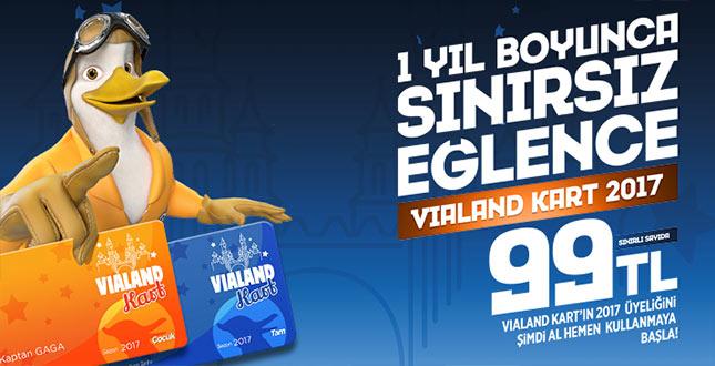 Vialand Tema Park'ta 1 Yıllık Sınırsız Eğlence Özel Sadece 99 TL!