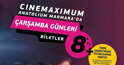 Anatolium Marmara Avm'de Sinema Çarşamba Günleri 8TL