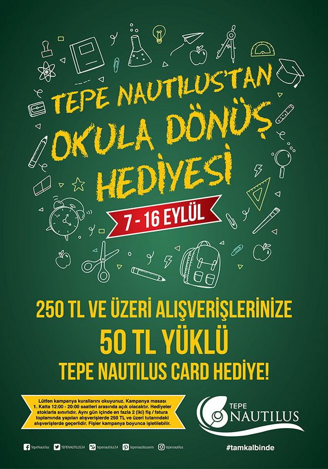 Tepe Nautilus okulların açılmasını özel bir kampanyayla karşılıyor