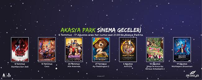 Akasya Park Sinema Geceleri Her Cuma Akşamı Akasya Park'ta