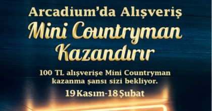 Arcadium'da Alışveriş Mini Countryman Kazandırır!