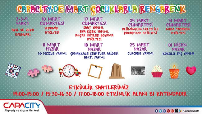 Capacity Mart Ayı Çocuk Etkinlikleri Hız Kesmeden Devam Ediyor!