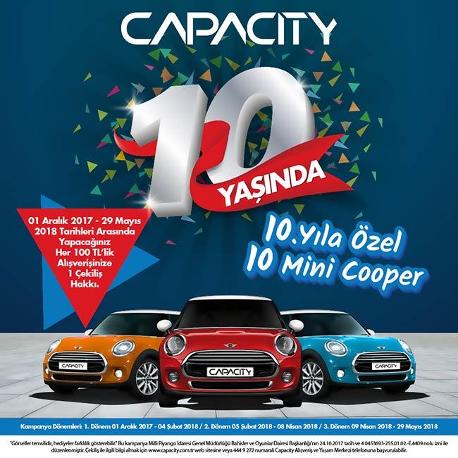 Capacity Avm'den 10. Yıla Özel Dev Kampanya