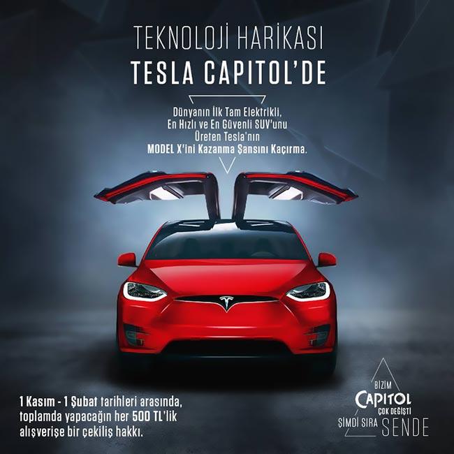 Dünya'nın İlk ve Tam Elektrikli Teknoloji Harikası Tesla Capitol'de