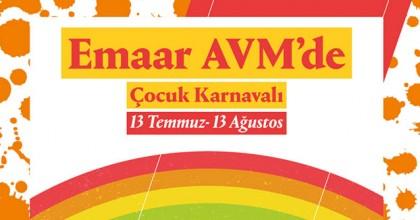 İstanbul'un en eğlenceli Çocuk Karnavalı  Emaar AVM'de başlıyor