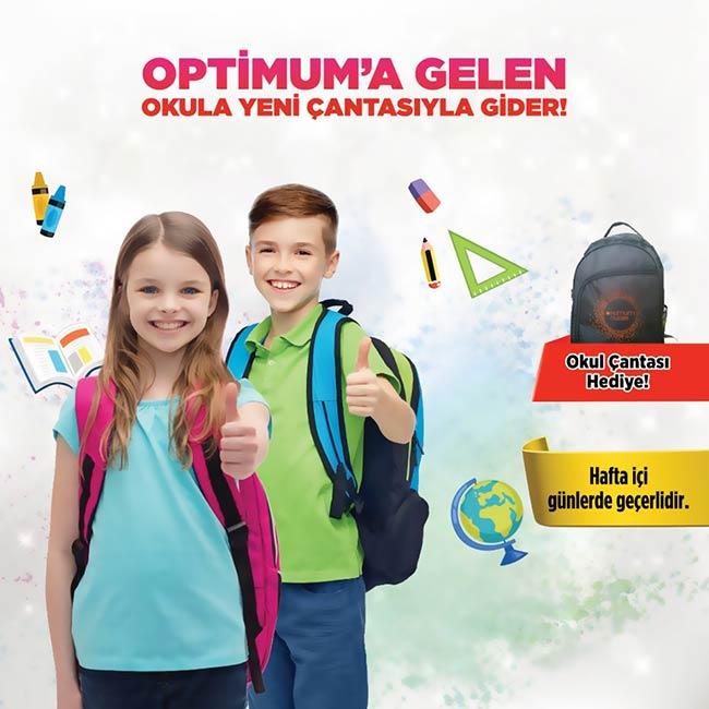 İstanbul Optimum'dan Okul Çantası Hediye!