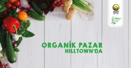 Organik pazar Hilltown'da!