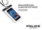 Atasun'dan Police Güneş Gözlüğü  Alana Su Geçirmez Telefon Kılıfı Hediye
